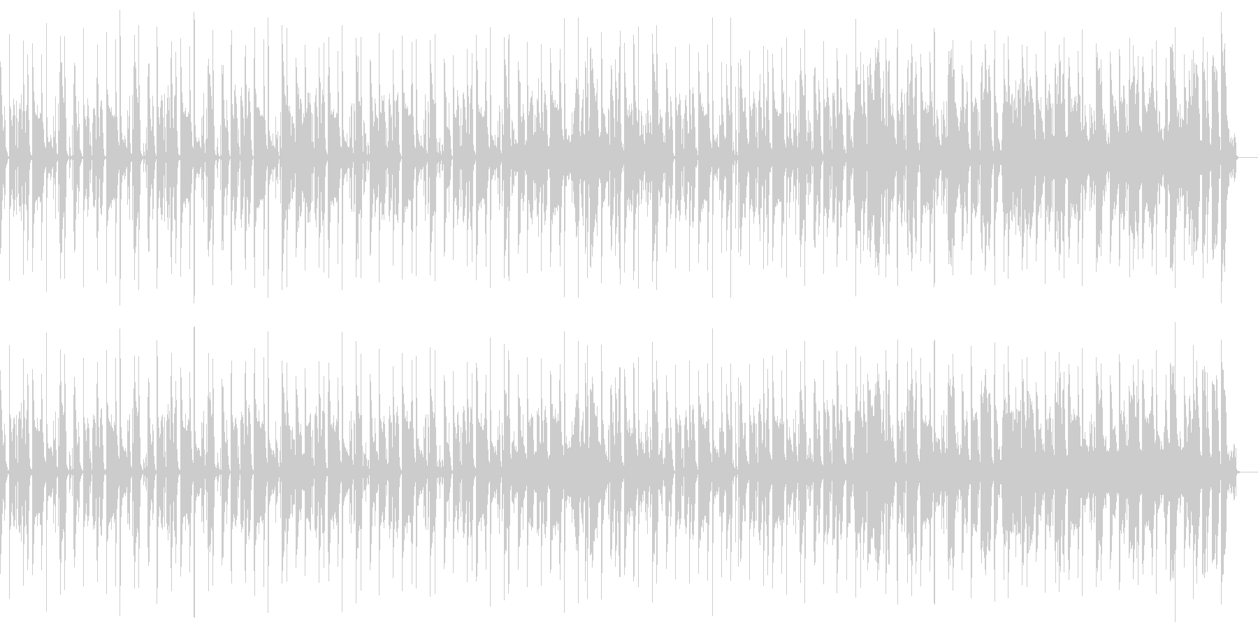 ちょっと古めなFunkサウンドの未再生の波形