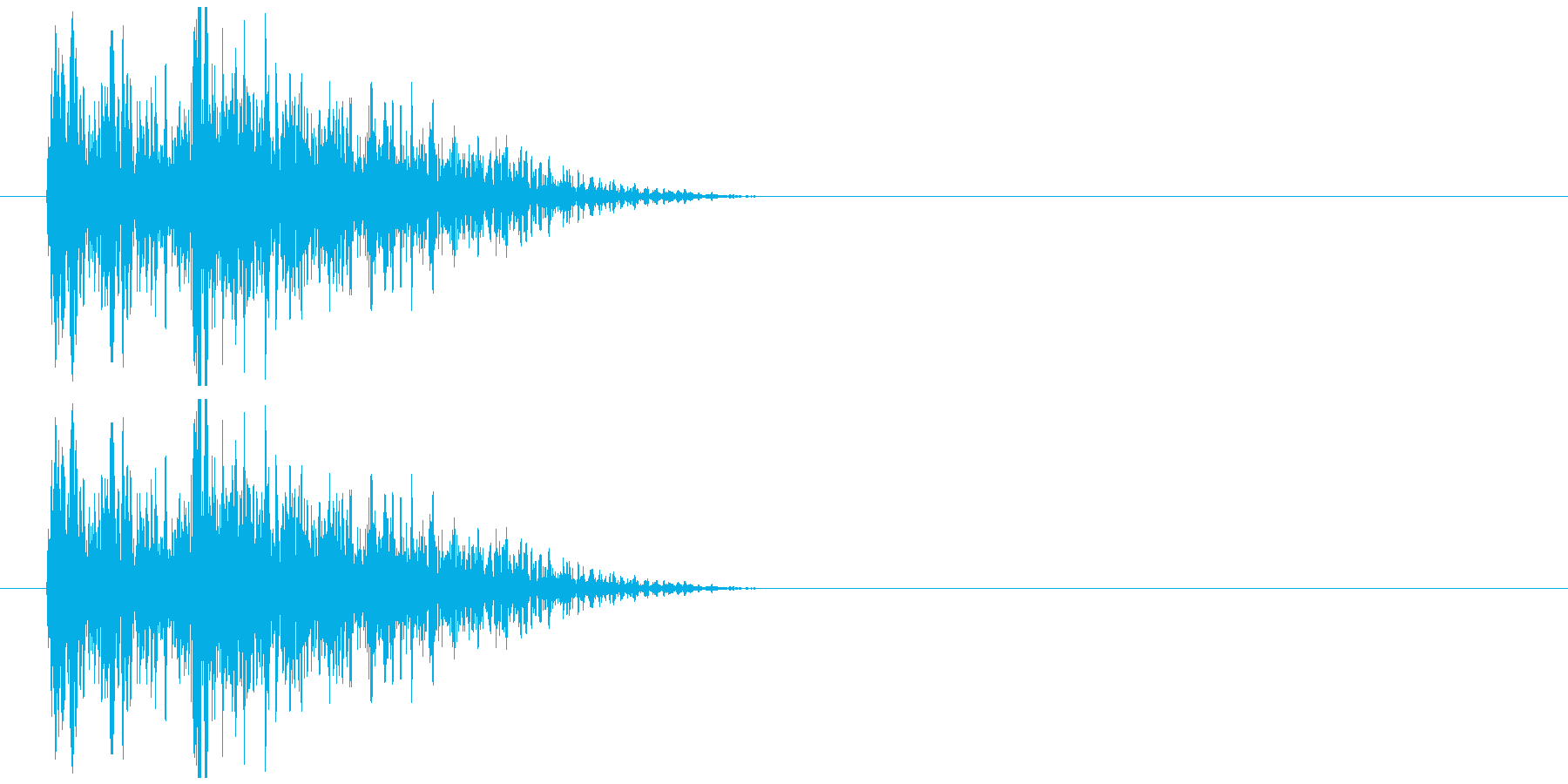 クイズ出題音 ジャジャン!!の再生済みの波形