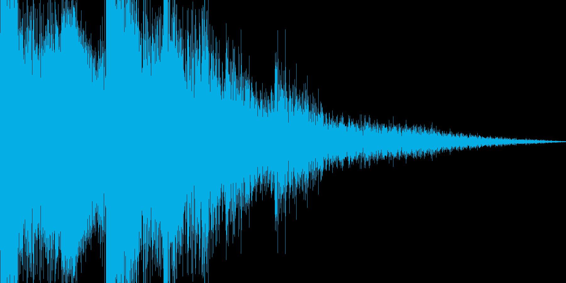 氷がくだける音の再生済みの波形
