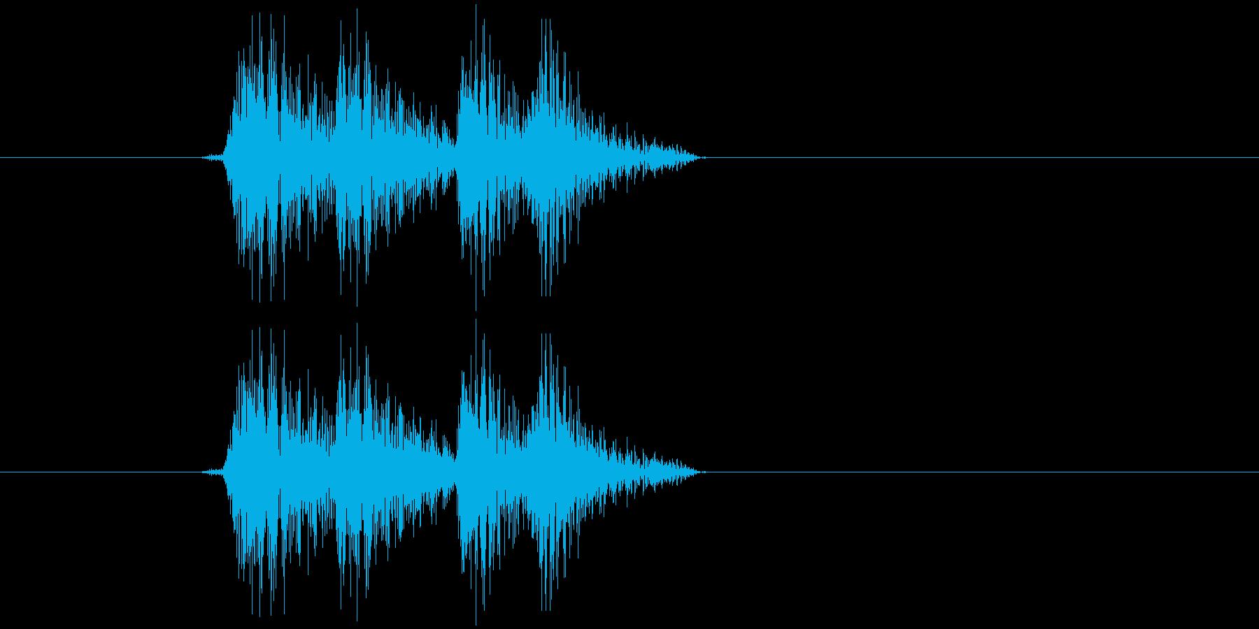 アプリ、ゲーム、決定音の再生済みの波形