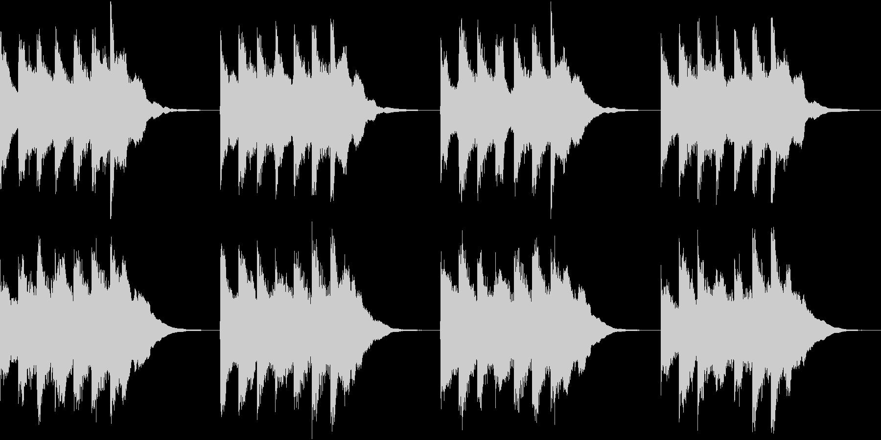 シンプル ベル 着信音 チャイム A16の未再生の波形