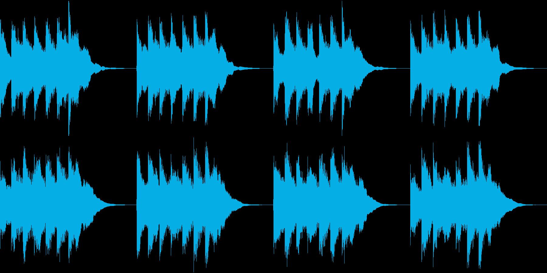 シンプル ベル 着信音 チャイム A16の再生済みの波形
