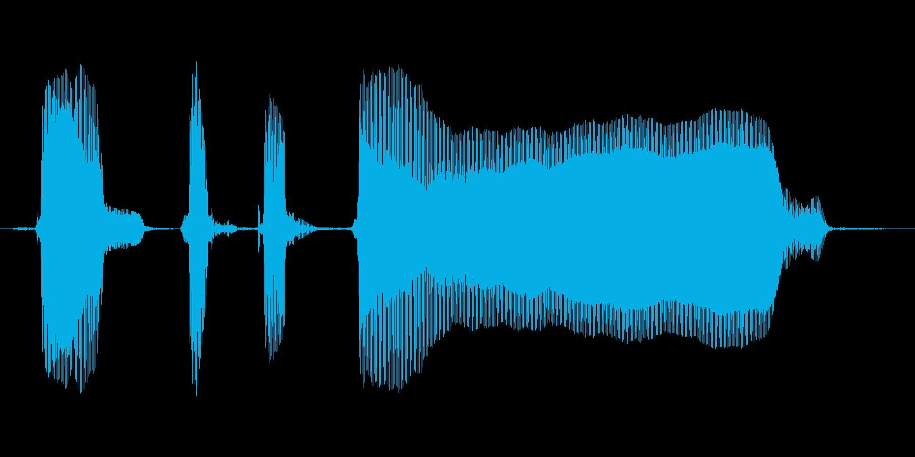 【ボイスSE】パンパカパーン!の再生済みの波形