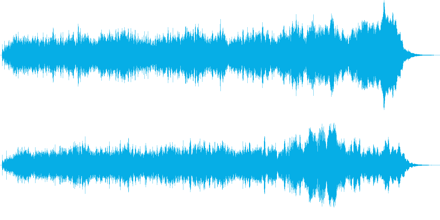 キラキラしたメルヘンチックなジングル4の再生済みの波形