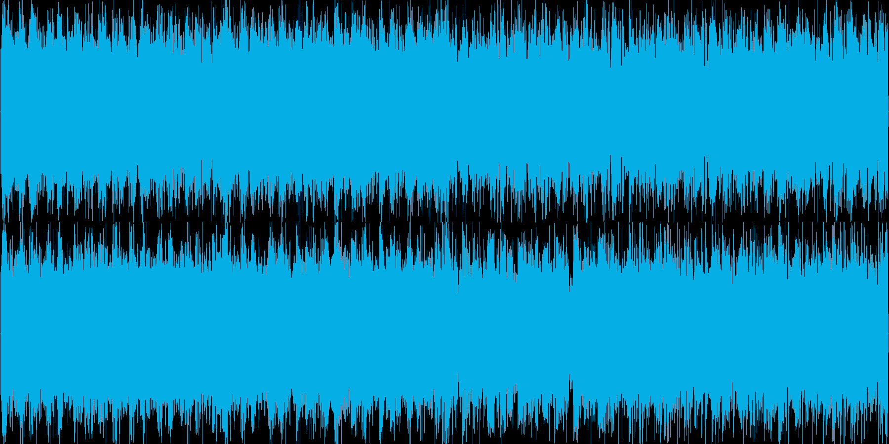 戦闘系 ギター+ドラムンベースな曲の再生済みの波形