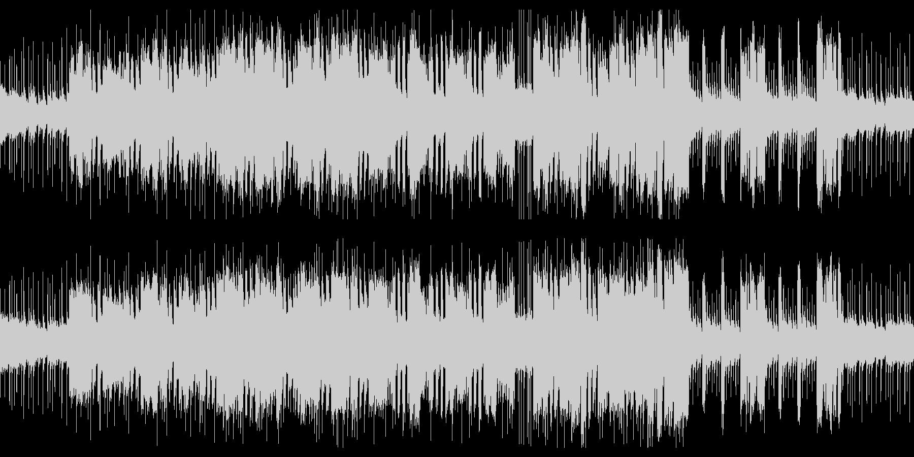 激しいロック×ださいシンセのBGMの未再生の波形