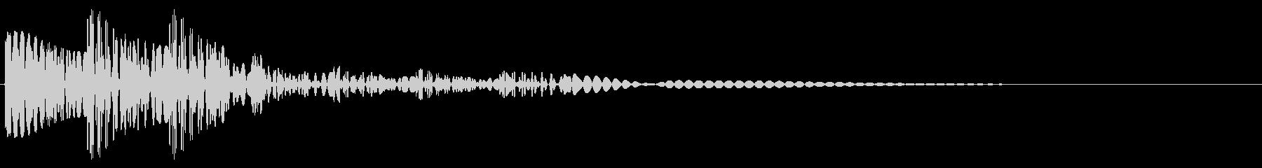 FM音源風効果音(ゴロゴロン)の未再生の波形