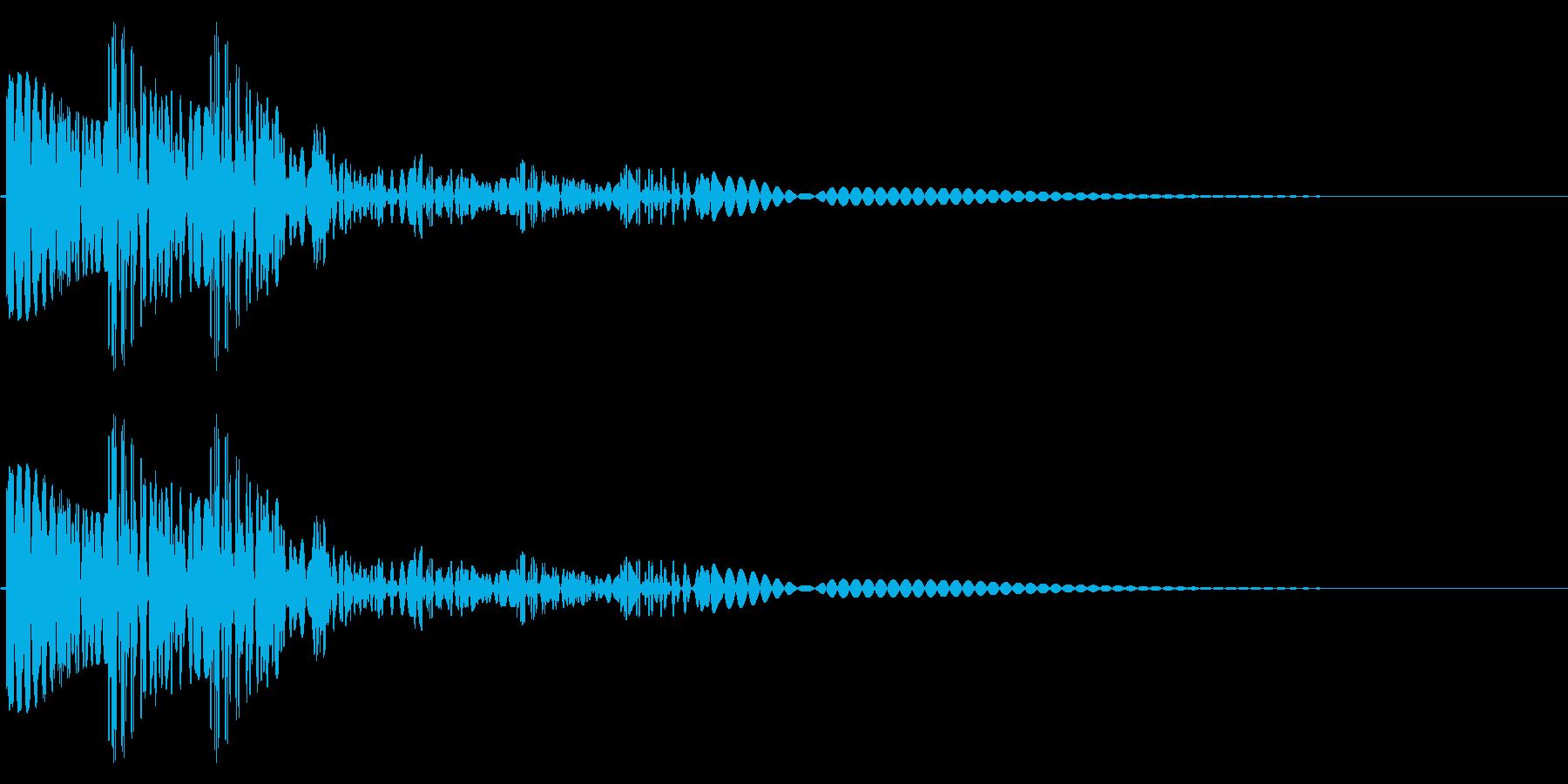 FM音源風効果音(ゴロゴロン)の再生済みの波形