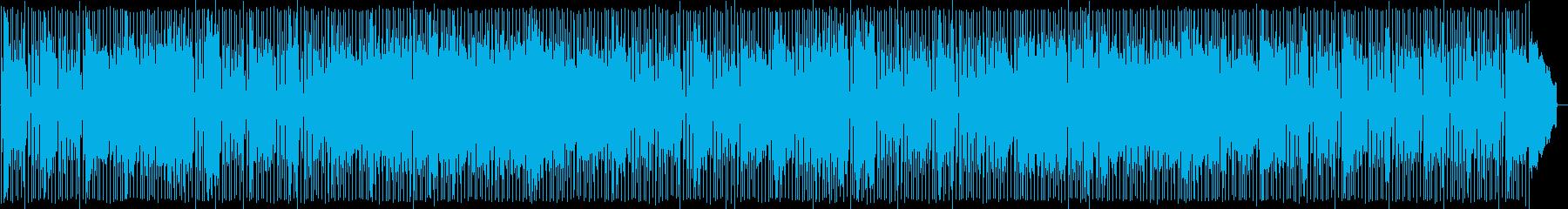 優しくて陽気なテクノポップの再生済みの波形