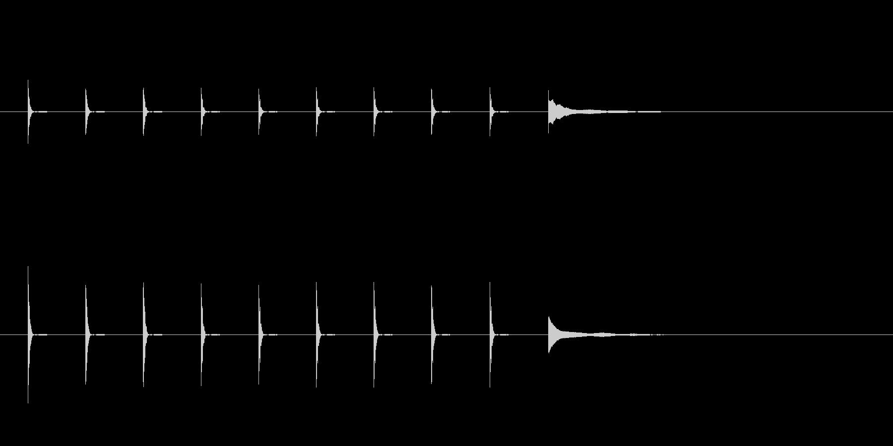ポクポクポク...チーン(長め)の未再生の波形
