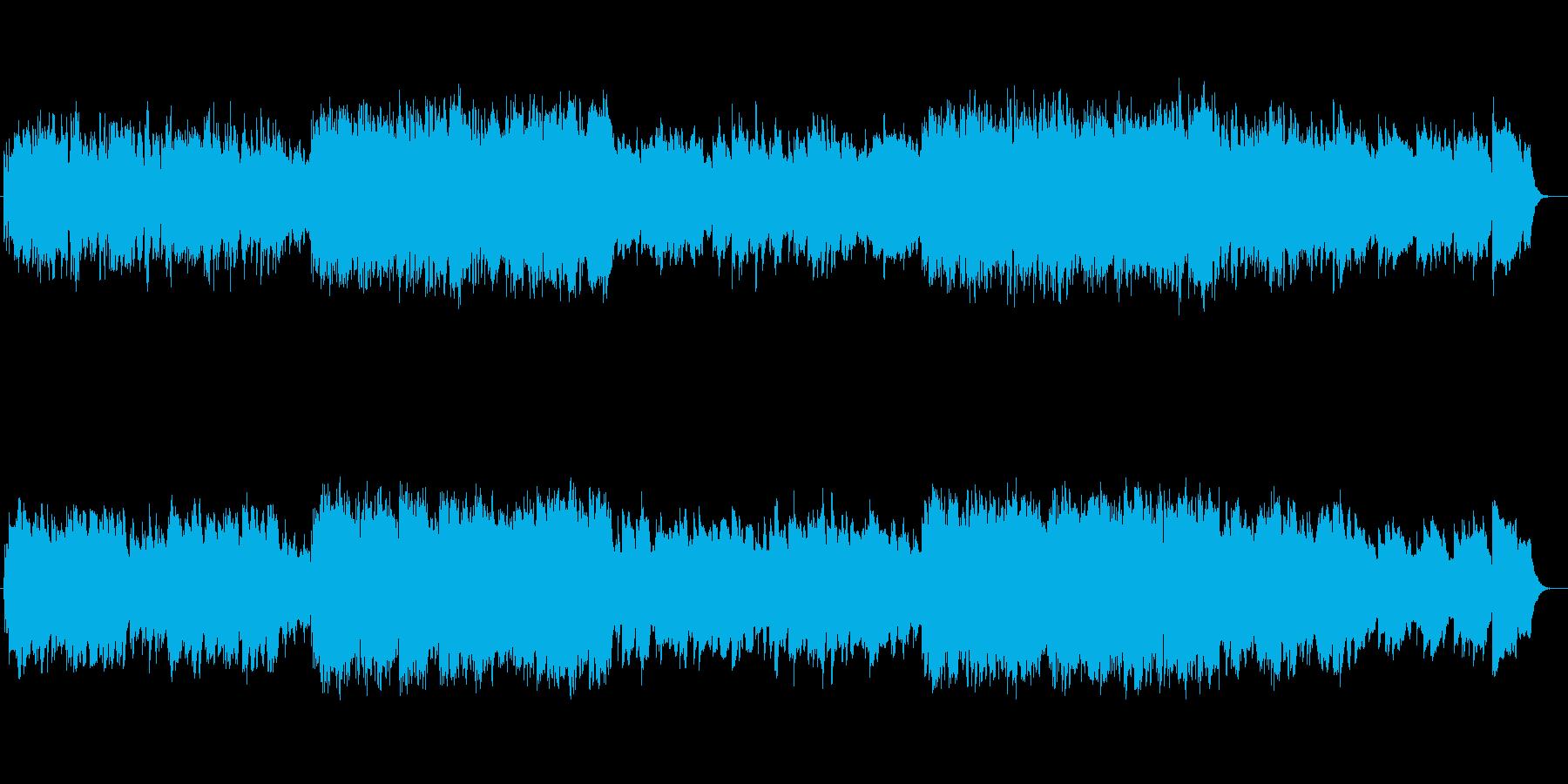 切なくゆったりしたシンセサイザーサウンドの再生済みの波形