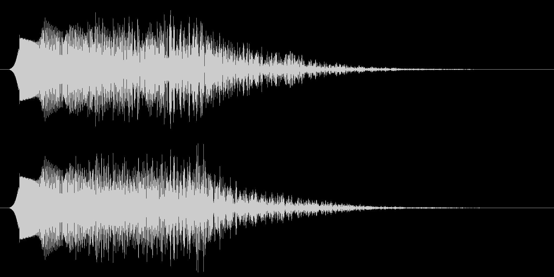 コミカルなパワーダウン 下降音の未再生の波形