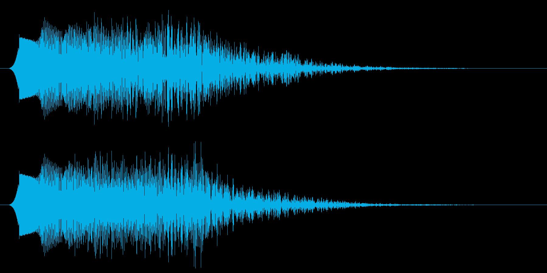 コミカルなパワーダウン 下降音の再生済みの波形