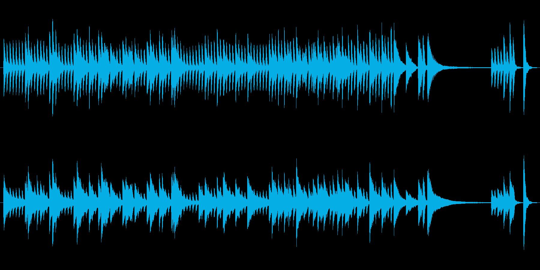 ピアノだけで構成した曲で、落ち着いてい…の再生済みの波形
