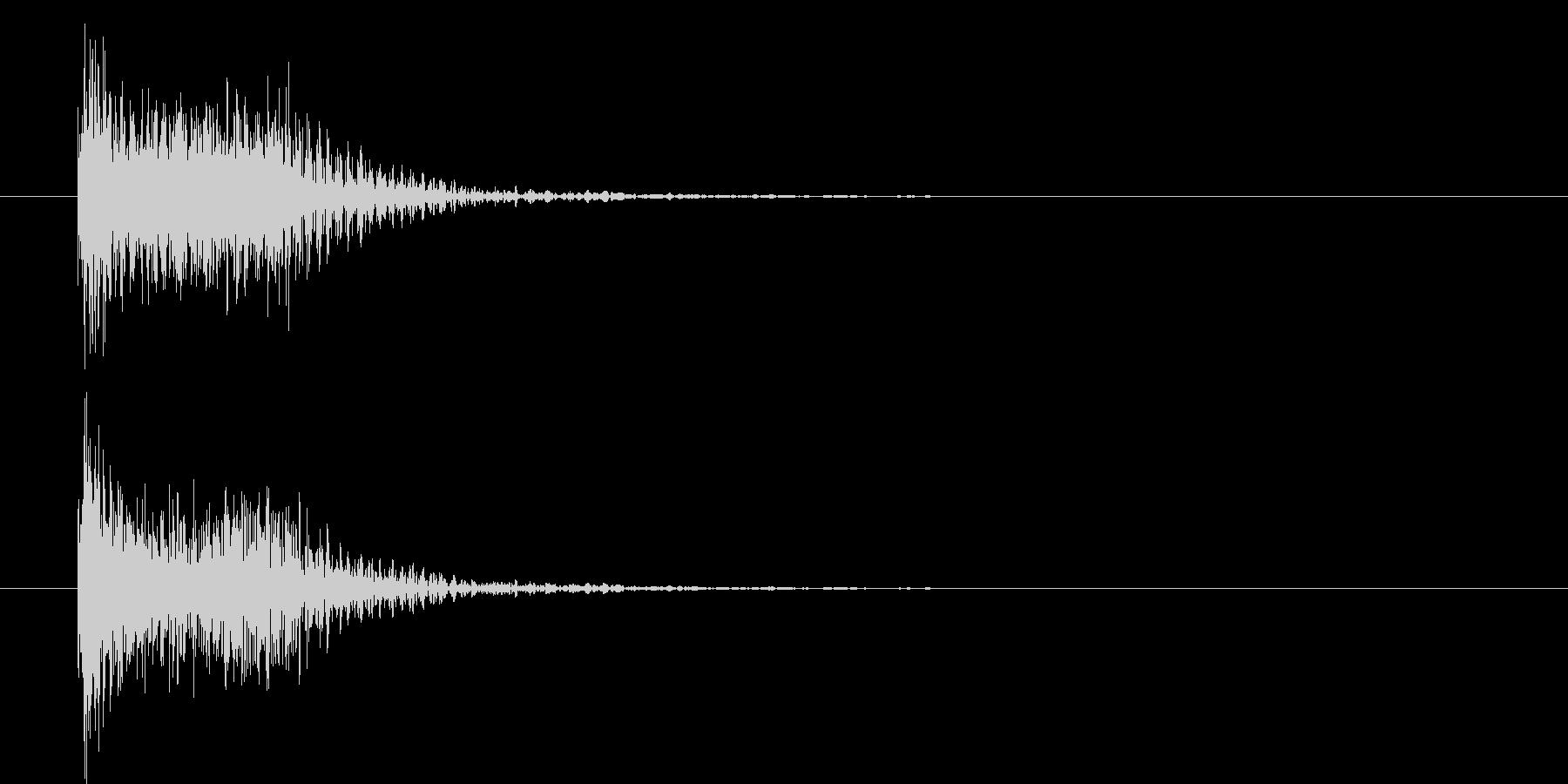 吹奏楽クリック決定音テロップ効果音の未再生の波形