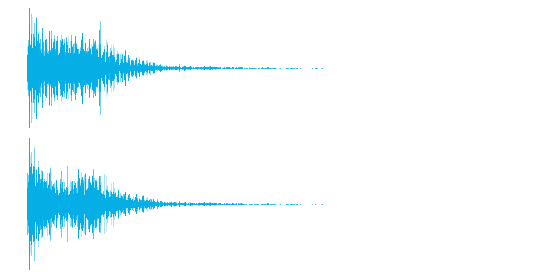 吹奏楽クリック決定音テロップ効果音の再生済みの波形
