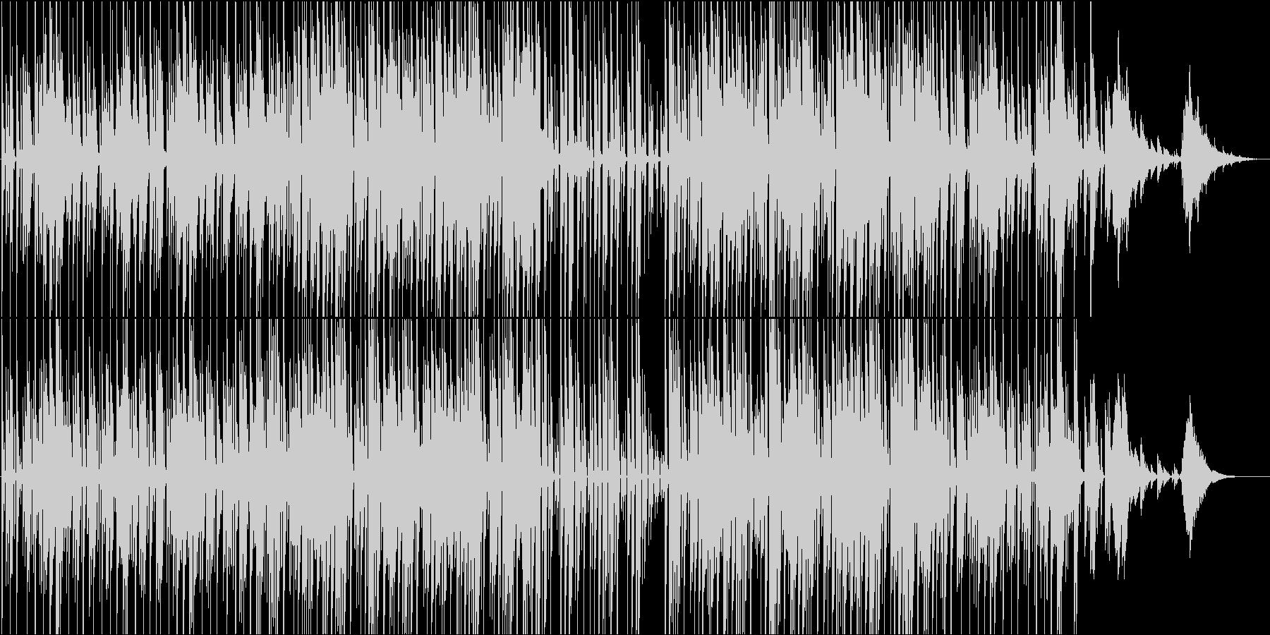 説明、紹介などのテーマ。ミニマル電子音楽の未再生の波形