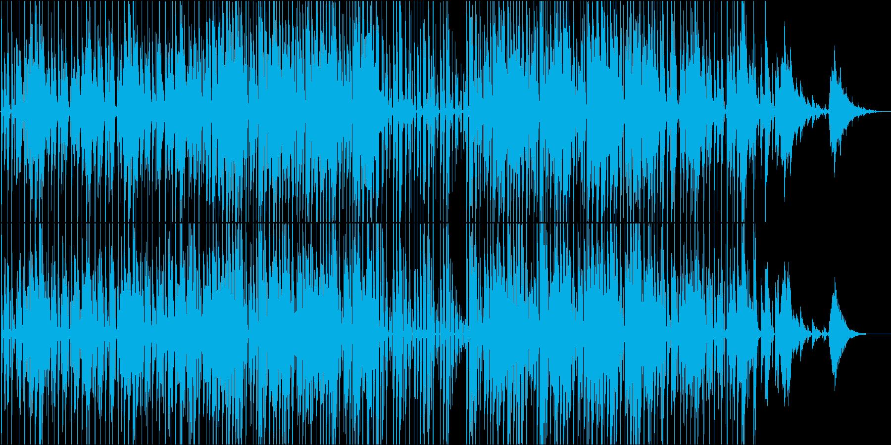 説明、紹介などのテーマ。ミニマル電子音楽の再生済みの波形