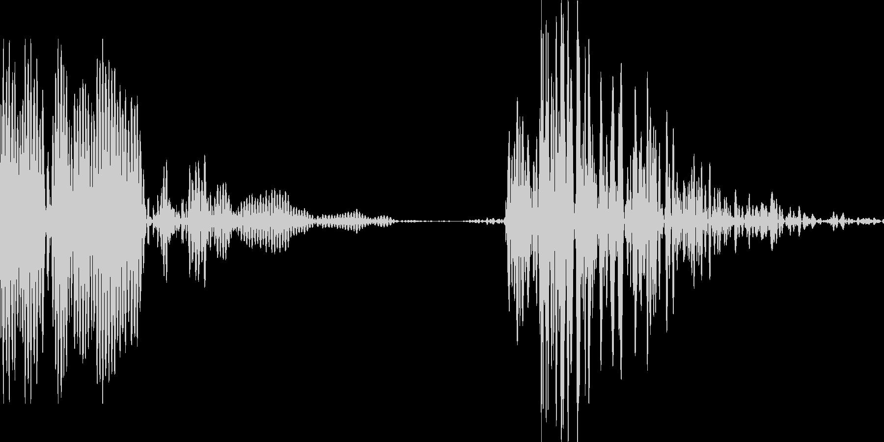 ゲーム用:打撃音「ポカッ」の未再生の波形