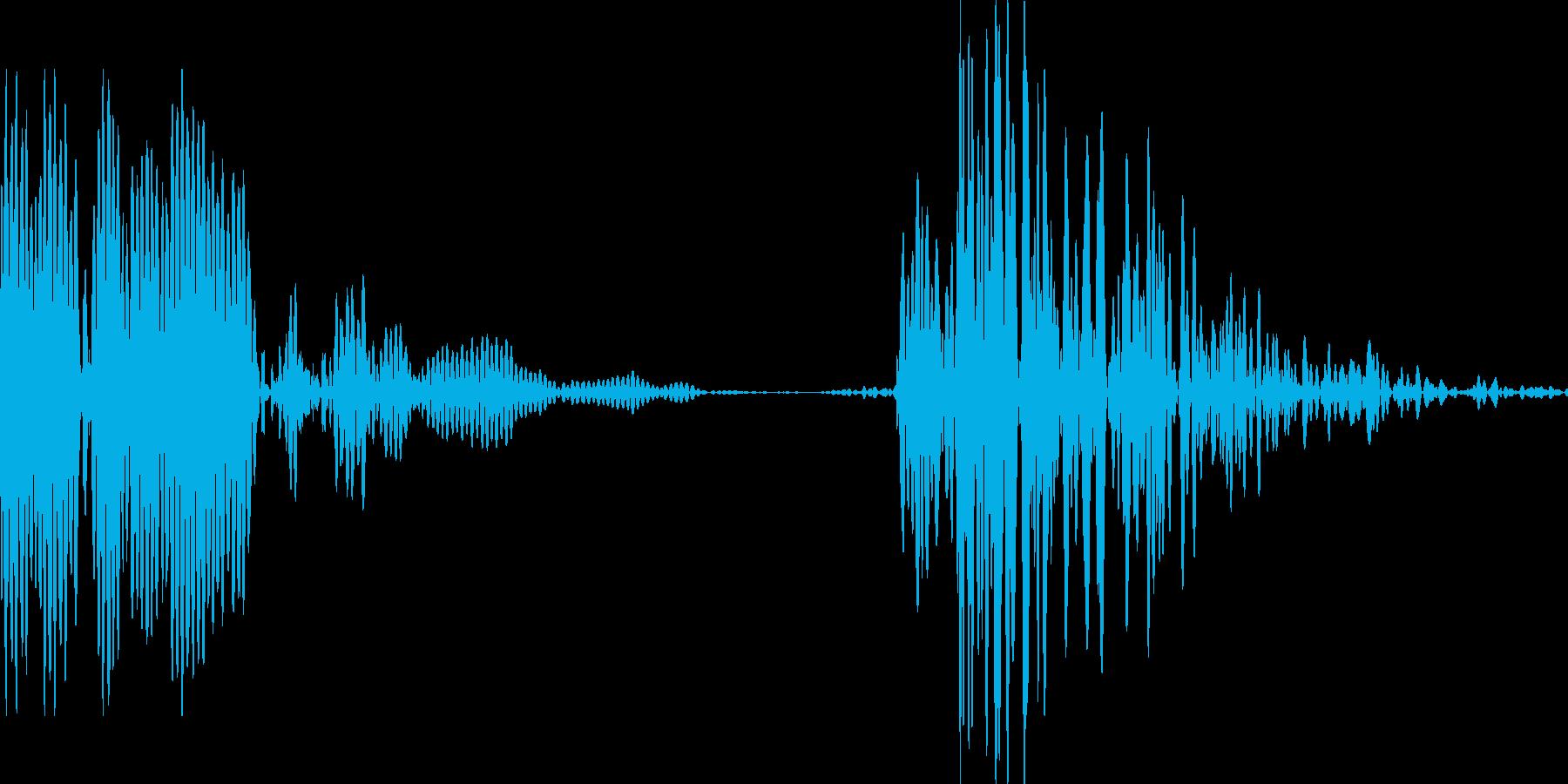 ゲーム用:打撃音「ポカッ」の再生済みの波形