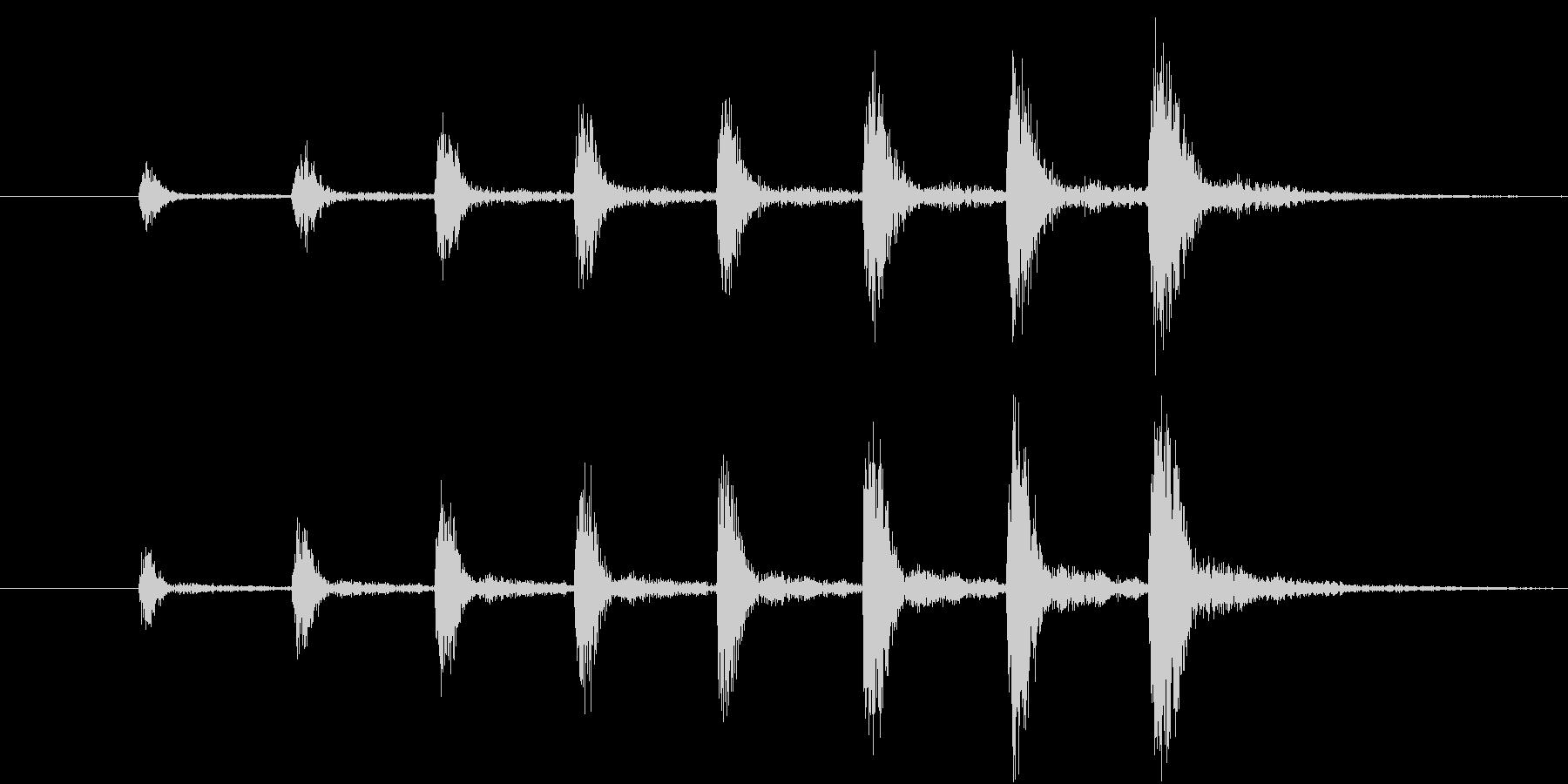 【生楽器】定番の迫る恐怖!ゆっくり版の未再生の波形