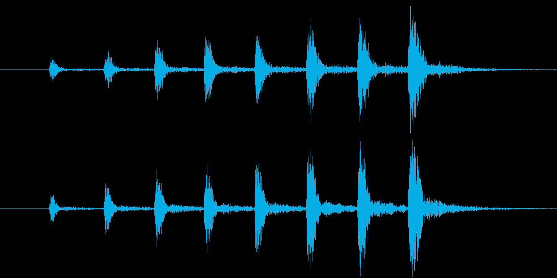 【生楽器】定番の迫る恐怖!ゆっくり版の再生済みの波形