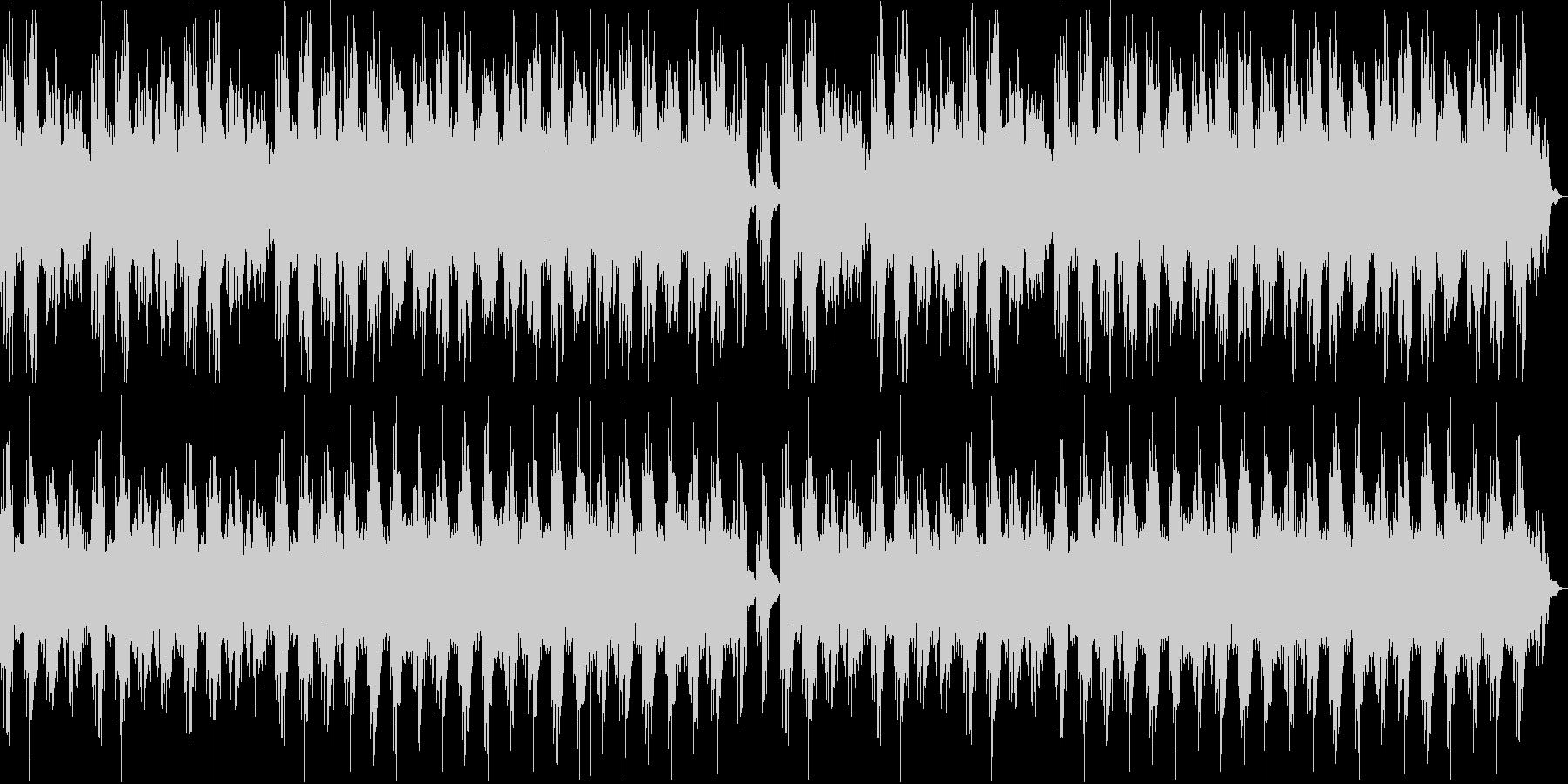 幻想的なピアノのリラクゼーション曲の未再生の波形