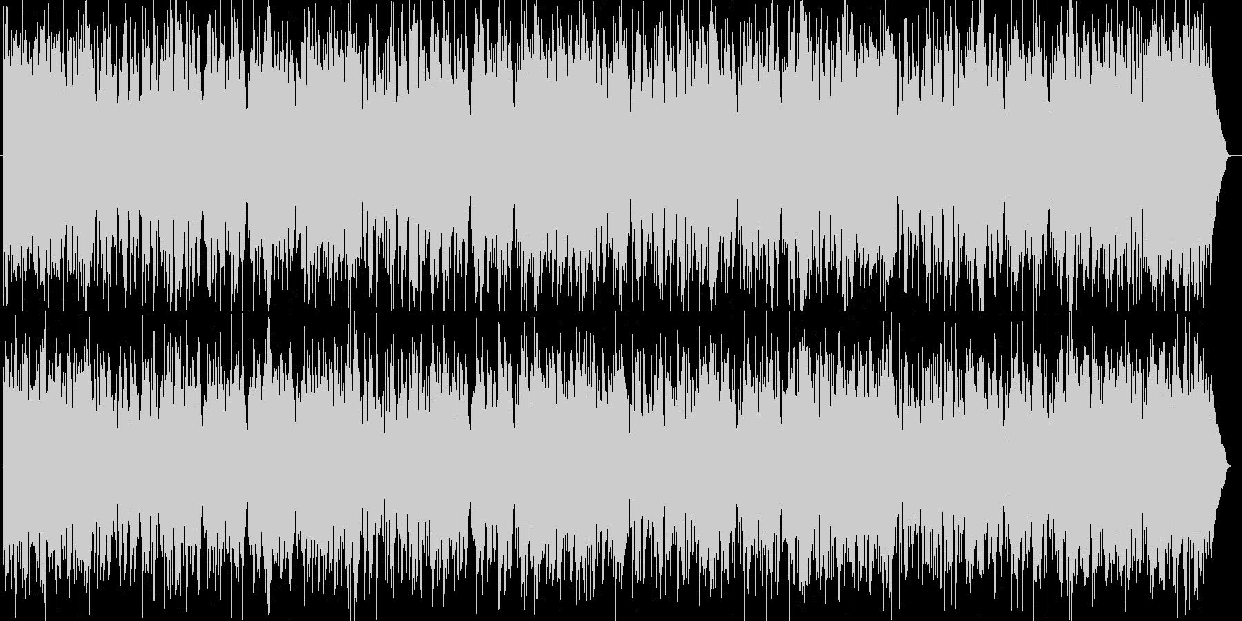 明るいエンタメ系シンセサイザーサウンドの未再生の波形