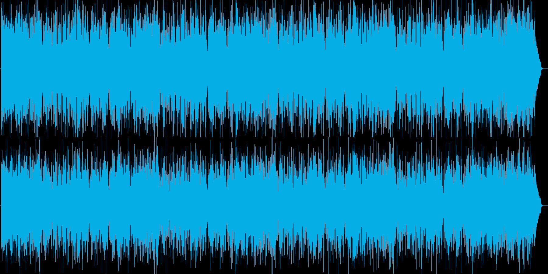 明るいエンタメ系シンセサイザーサウンドの再生済みの波形