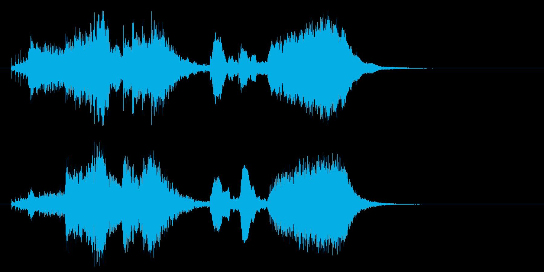 ひょっこりとしたオーケストラジングルの再生済みの波形