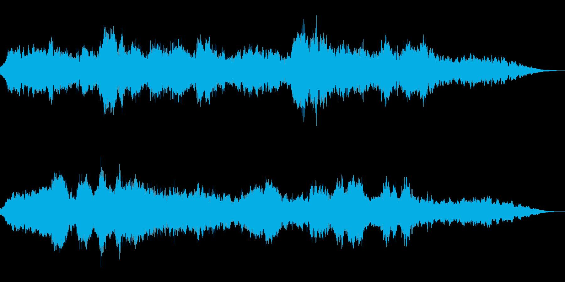 ゆったりとしたバラードの再生済みの波形