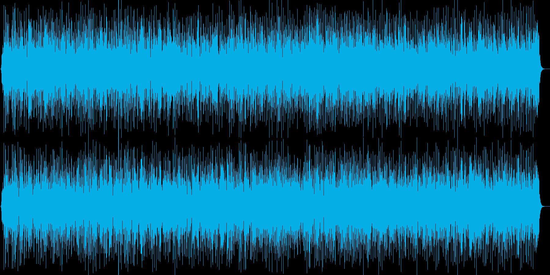 明るく透明感のあるシンセサイザーサウンドの再生済みの波形