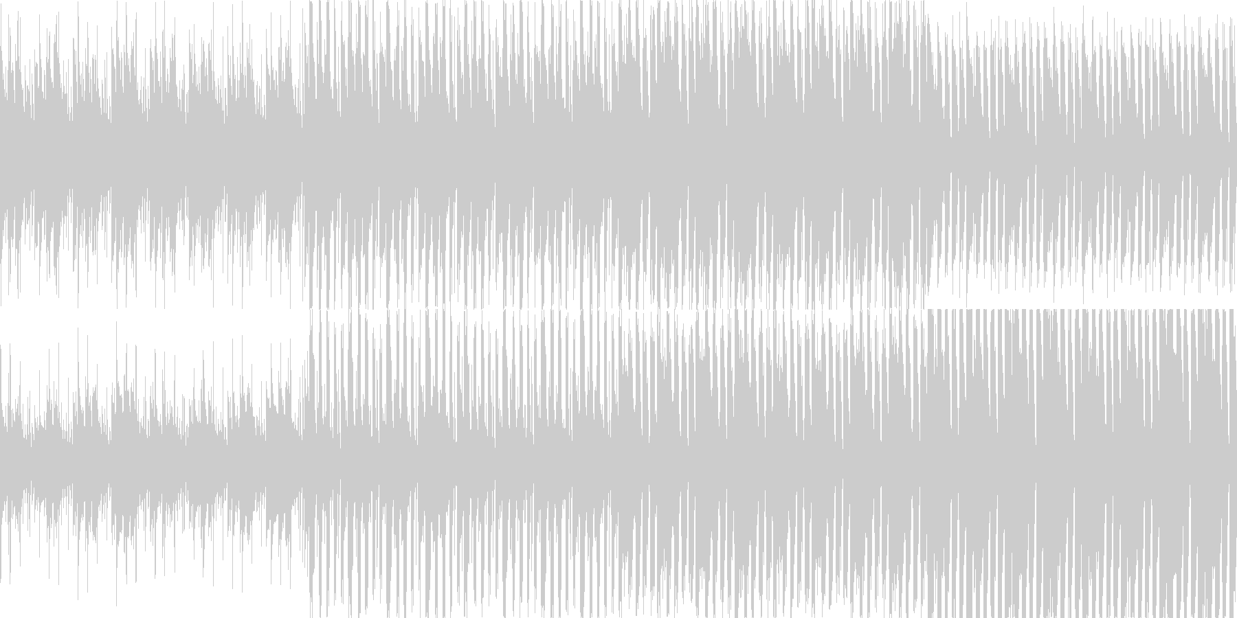 タイトル画面 待機画面用に作りました。…の未再生の波形