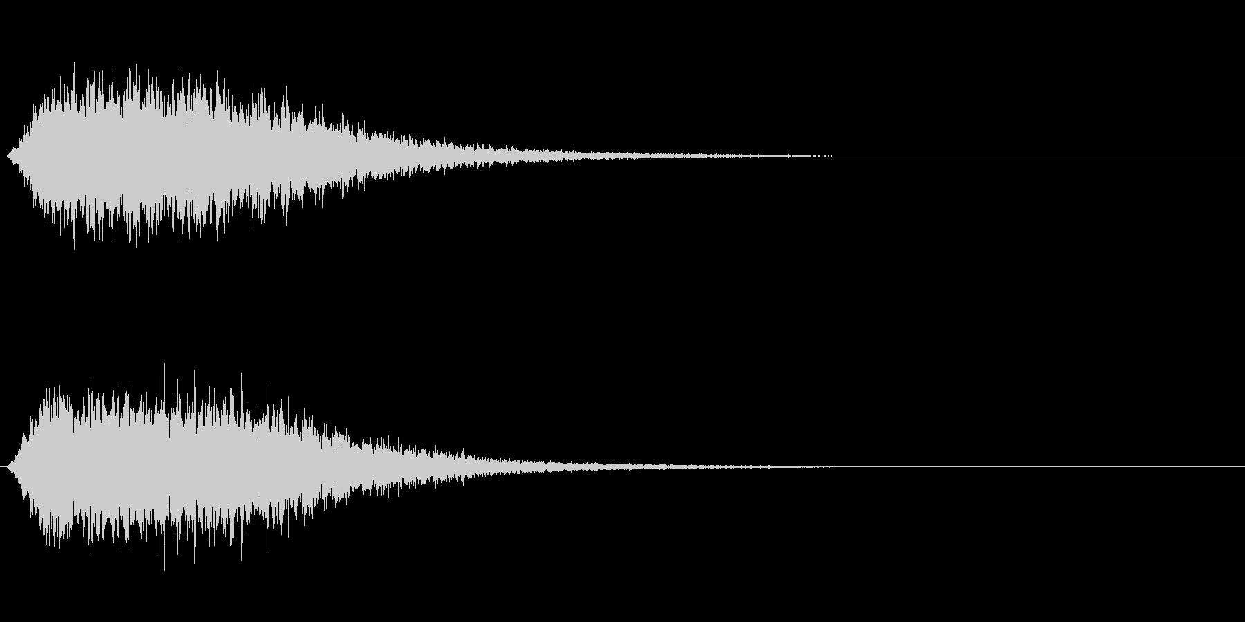 効果音_フュイーンの未再生の波形