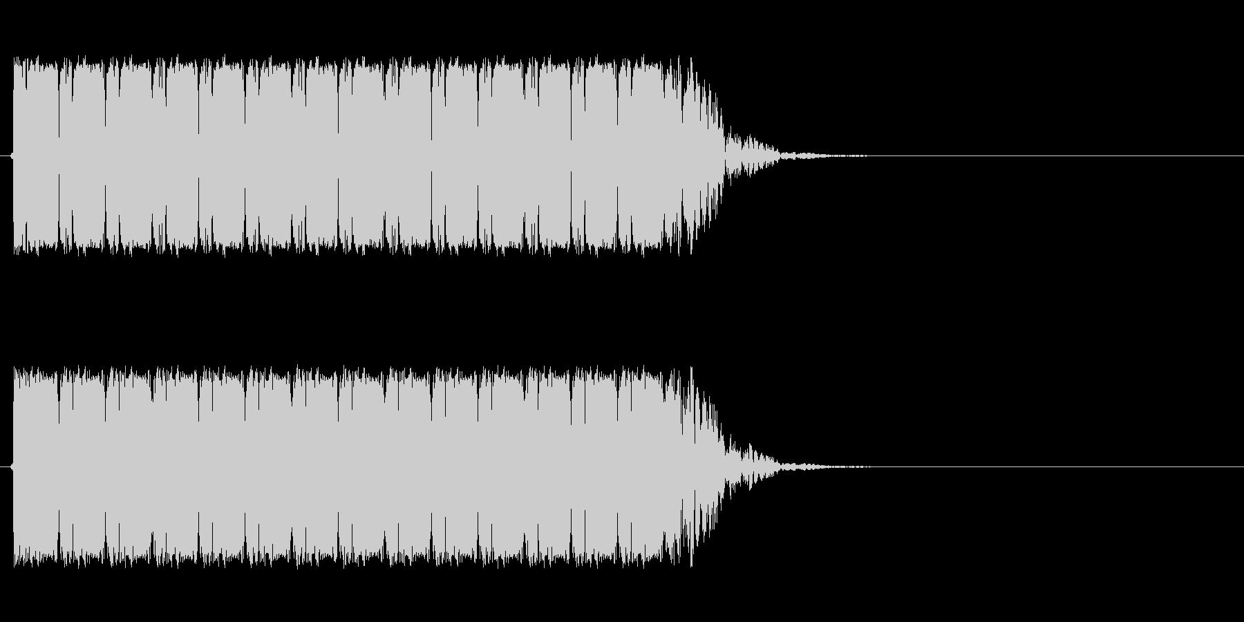 マシンガンの未再生の波形