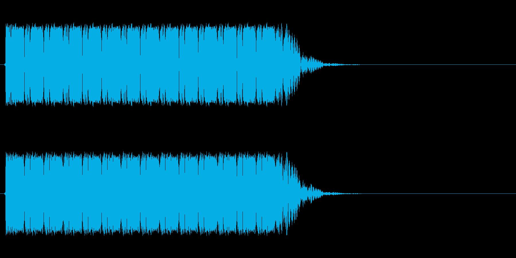 マシンガンの再生済みの波形