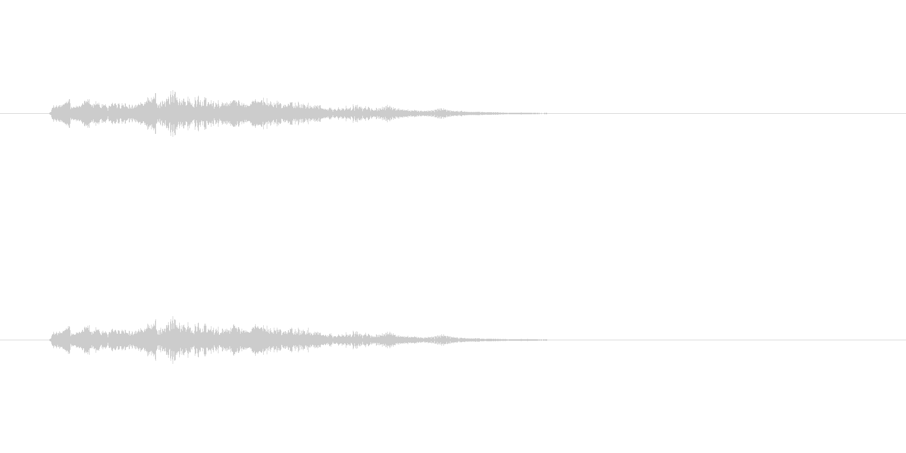 脱力系SEの未再生の波形
