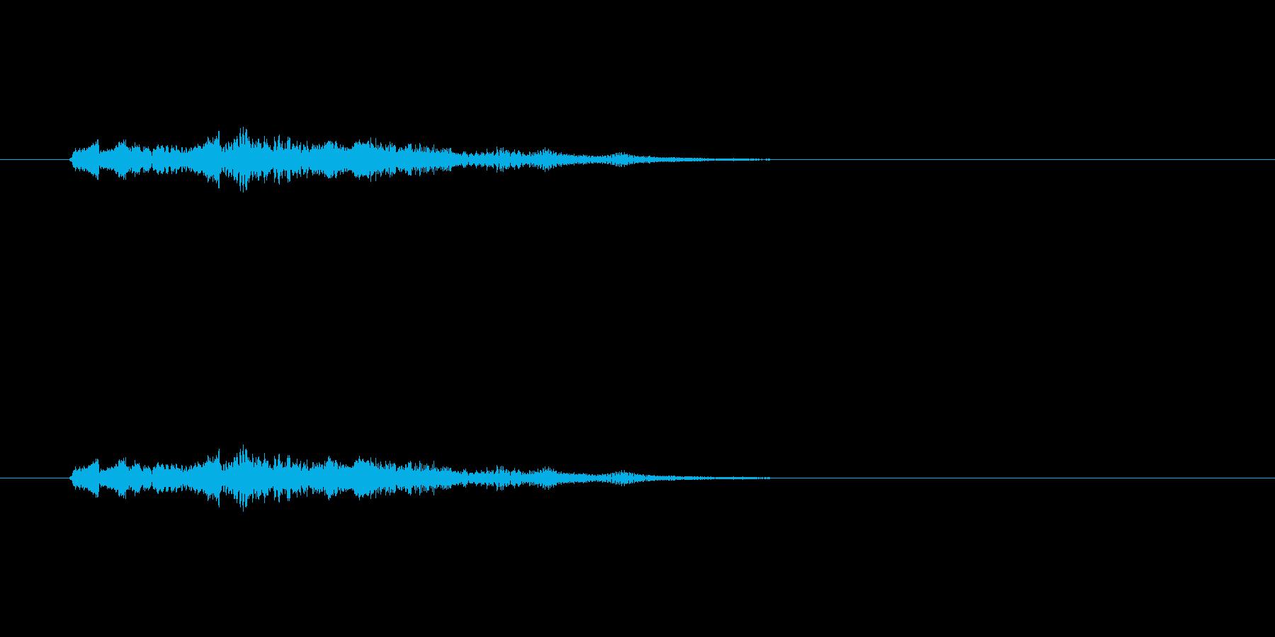 脱力系SEの再生済みの波形