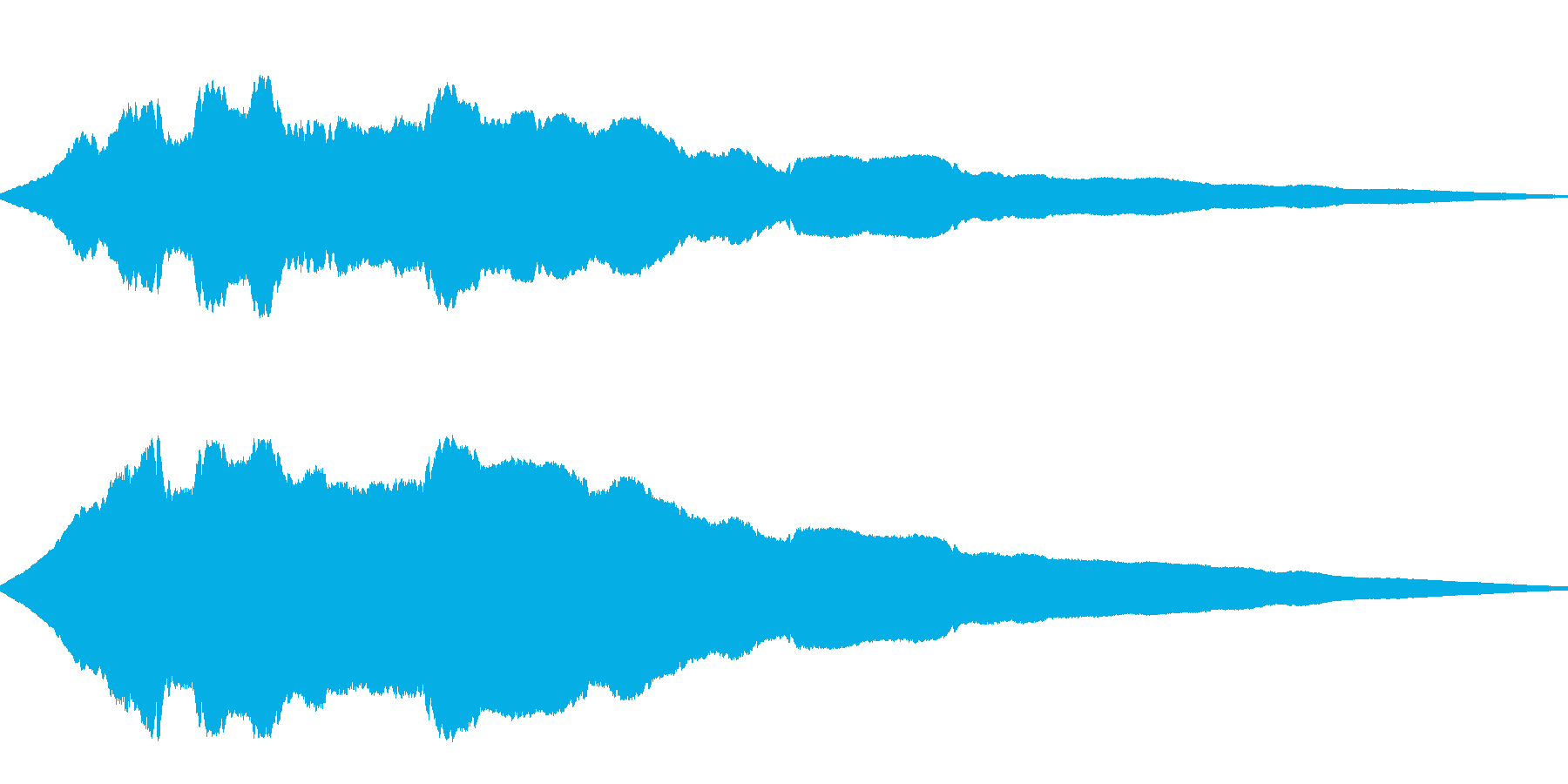 ヒューンと落下(高い所から落ちる)の再生済みの波形
