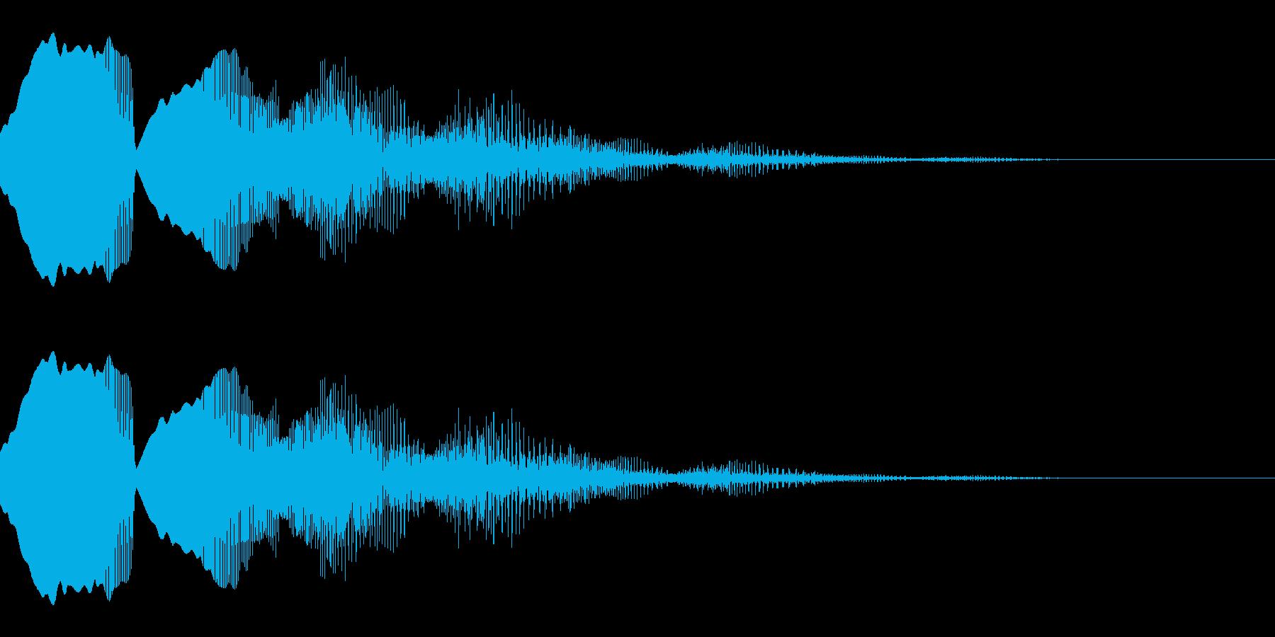 失敗・ミスをしたときの効果音_02の再生済みの波形