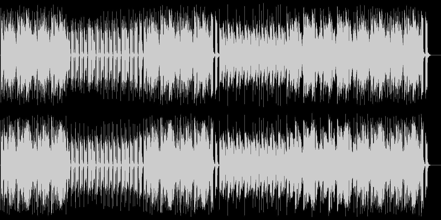 コミカルでポップなシンセサウンドの未再生の波形