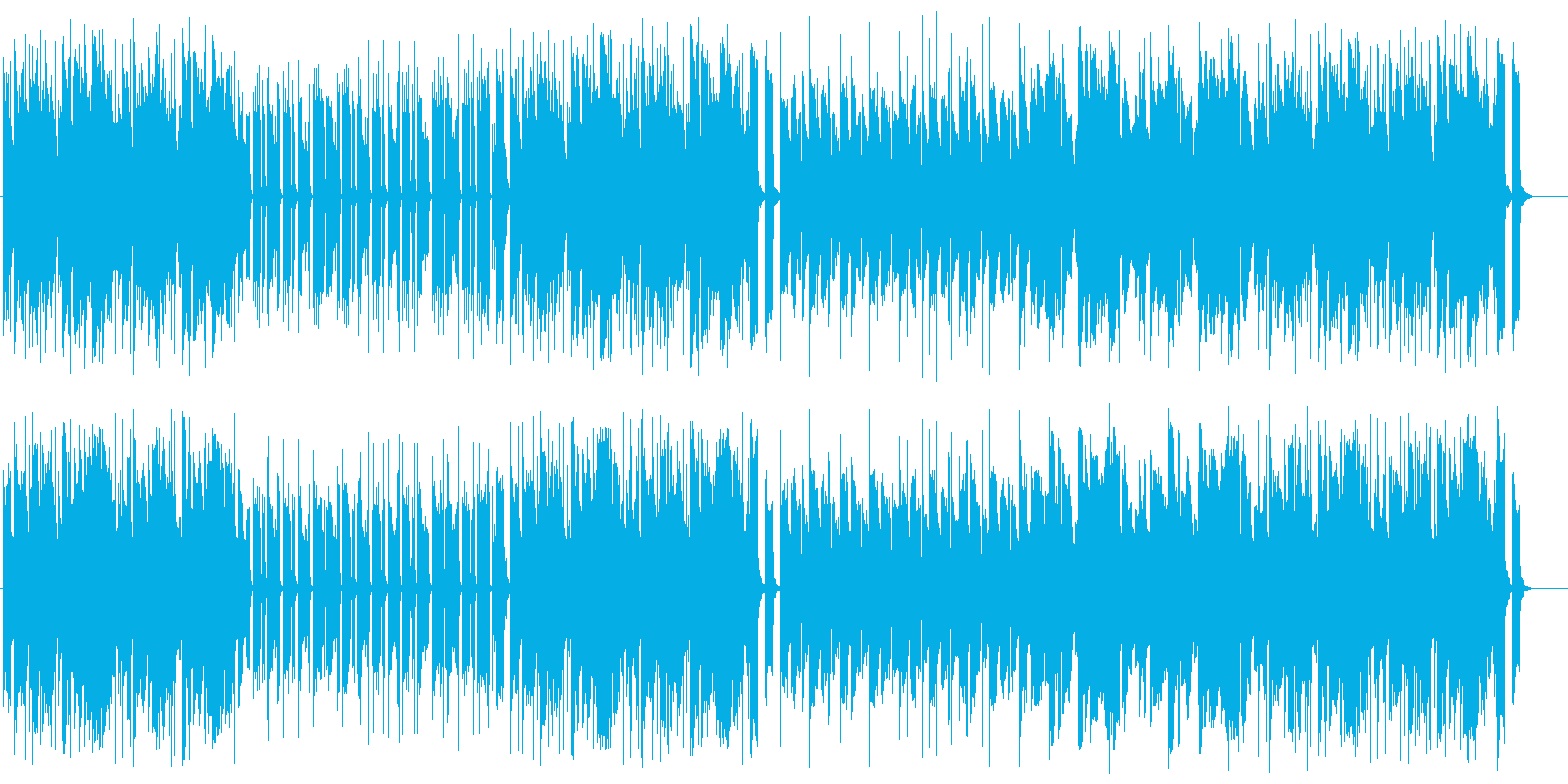 コミカルでポップなシンセサウンドの再生済みの波形