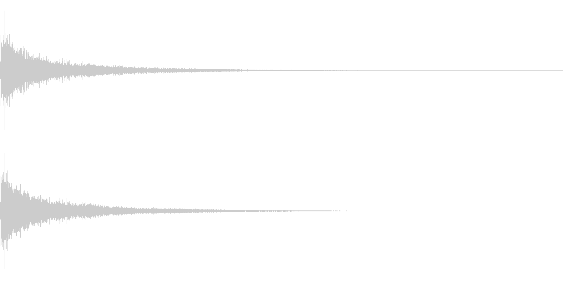 ティンパニーとシンバル☆ドン!2の未再生の波形