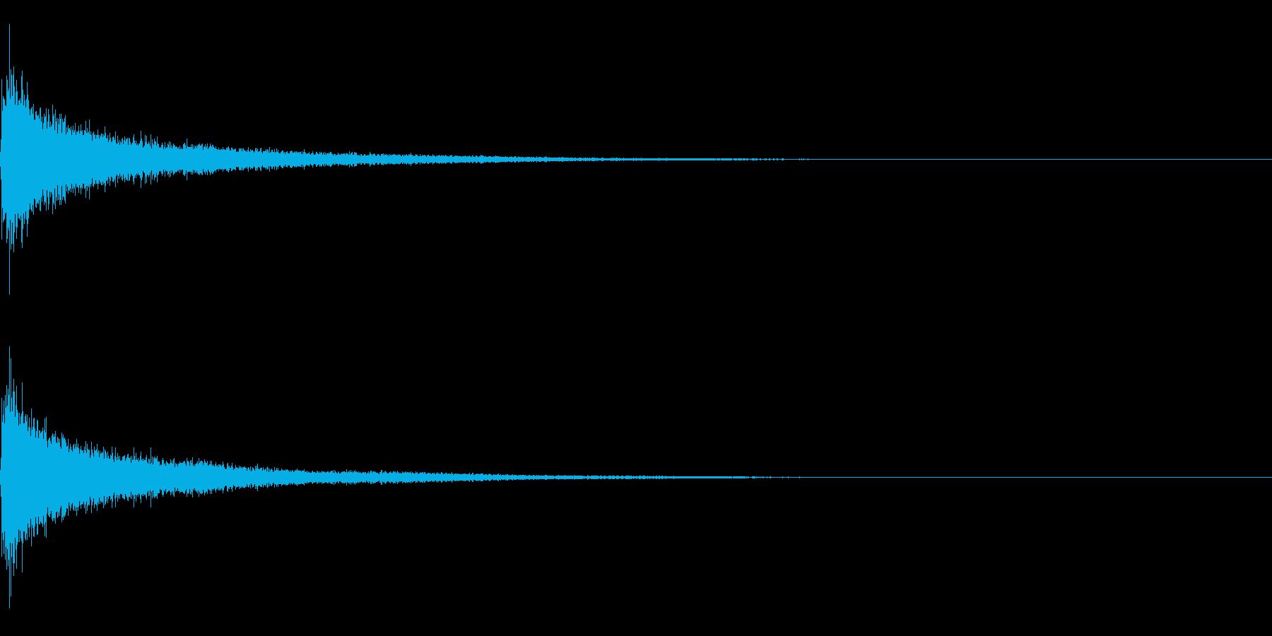 ティンパニーとシンバル☆ドン!2の再生済みの波形