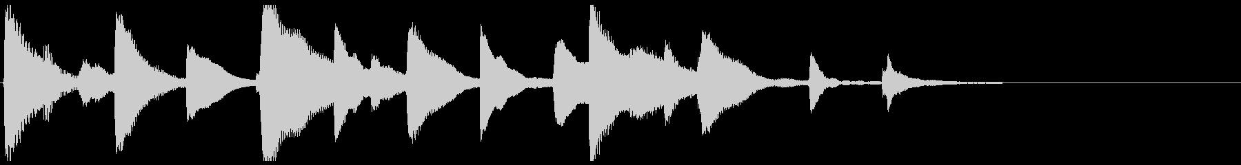 トイピアノが可愛らしいジングルの未再生の波形