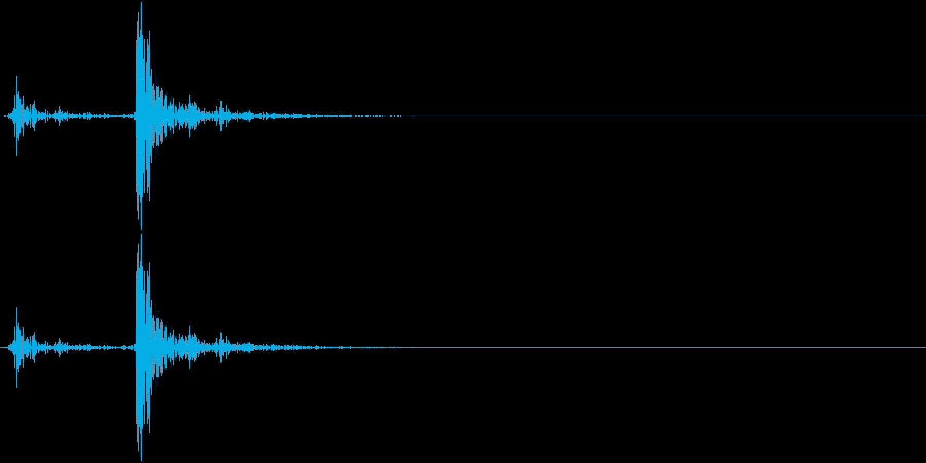 コーヒーの蓋のクラップ01の再生済みの波形