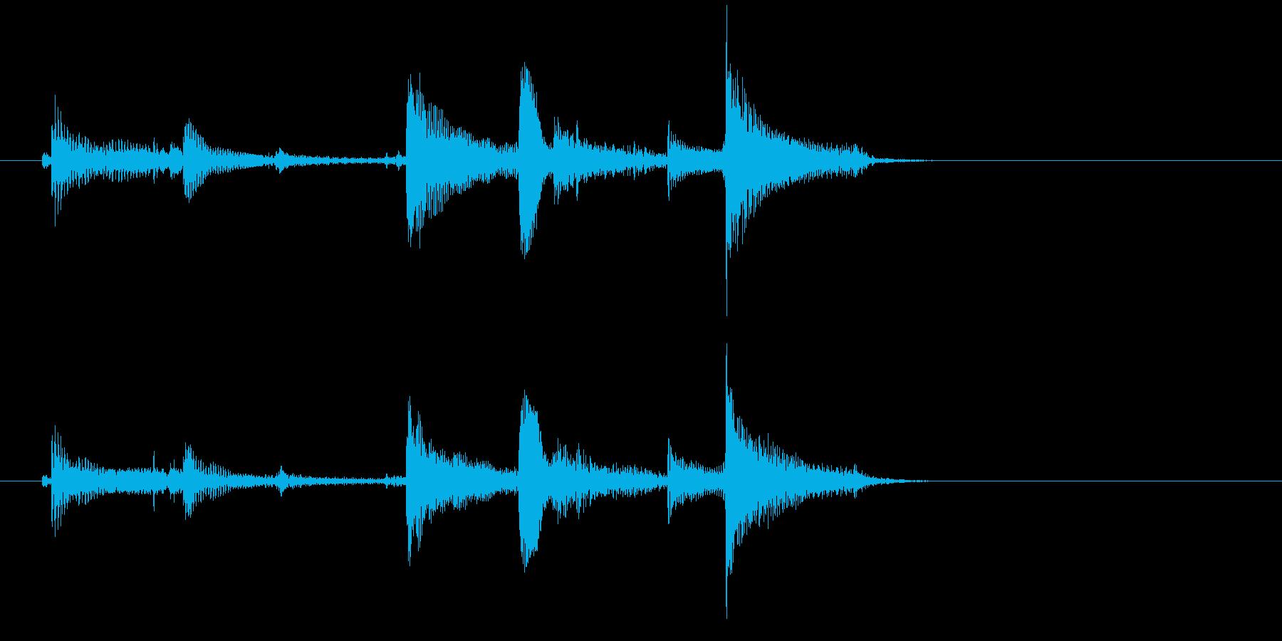 生音 三味線 ショートフレーズの再生済みの波形
