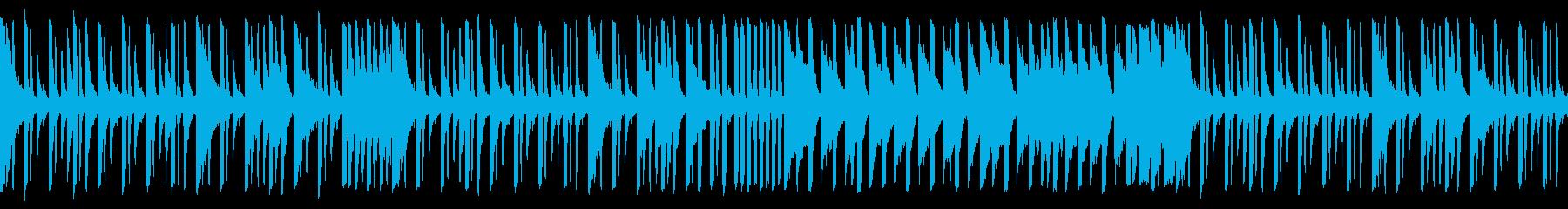 ピコピコしたコミカルなテクノの再生済みの波形
