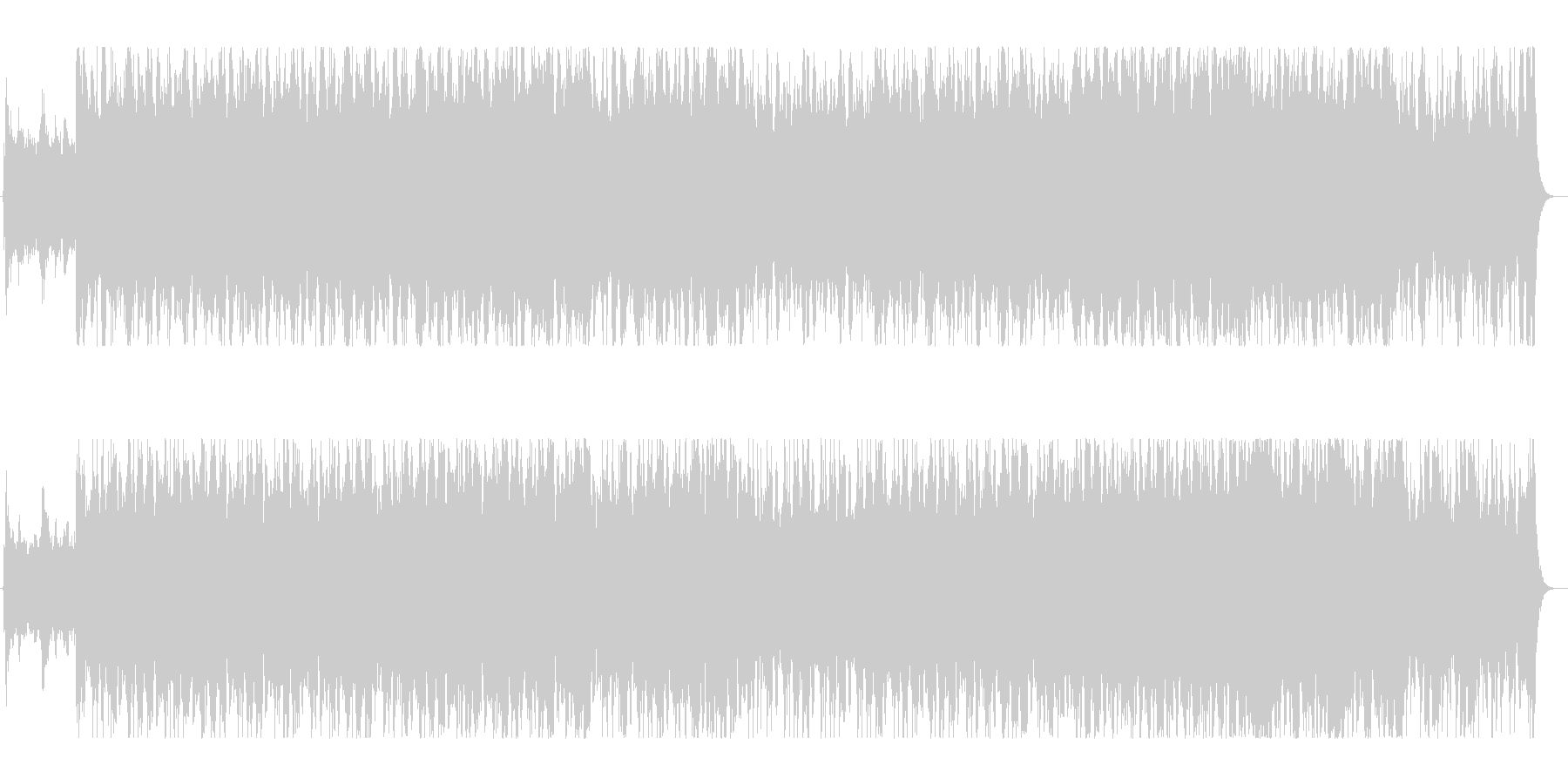 ダークな感じのケルトオーケストラの未再生の波形