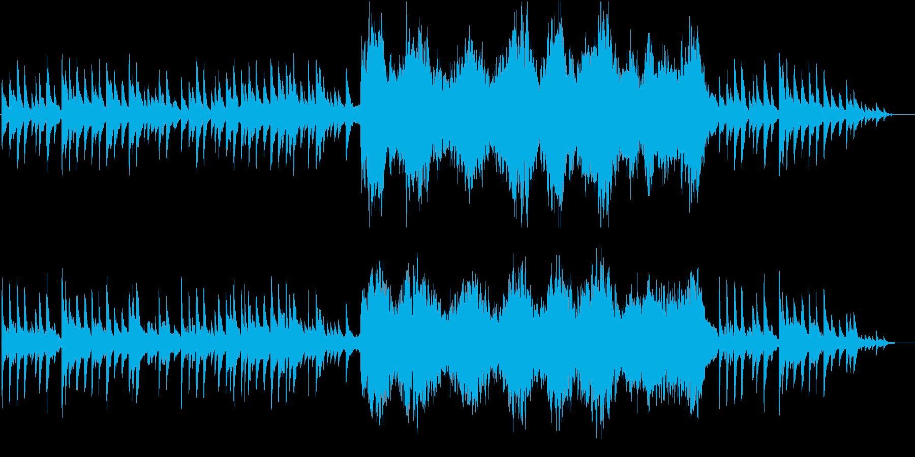 ピアノとコーラスの孤独感を感じる曲の再生済みの波形